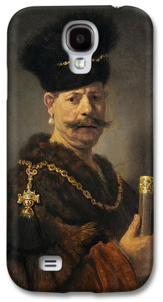 Gold Earrings Galaxy S4 Cases - A Polish Nobleman Galaxy S4 Case by Rembrandt