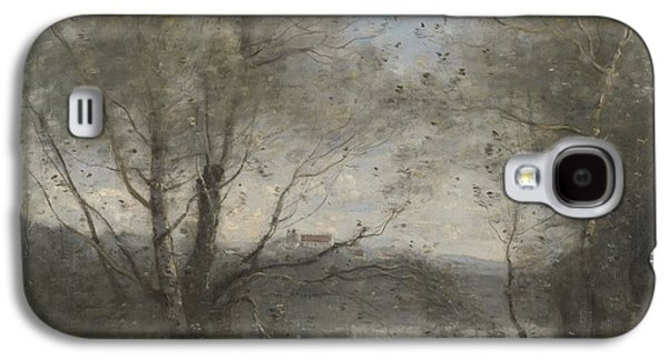 Landscapes Photographs Galaxy S4 Cases - A Pond Seen Through The Trees, C.1855-65 Oil On Canvas Galaxy S4 Case by Jean Baptiste Camille Corot