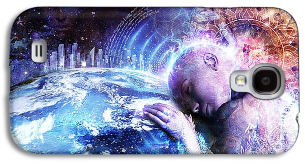 Spirituality Galaxy S4 Cases - A Prayer For The Earth Galaxy S4 Case by Cameron Gray