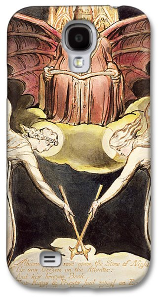 Angels Drawings Galaxy S4 Cases - A Priest On Christs Throne Galaxy S4 Case by William Blake