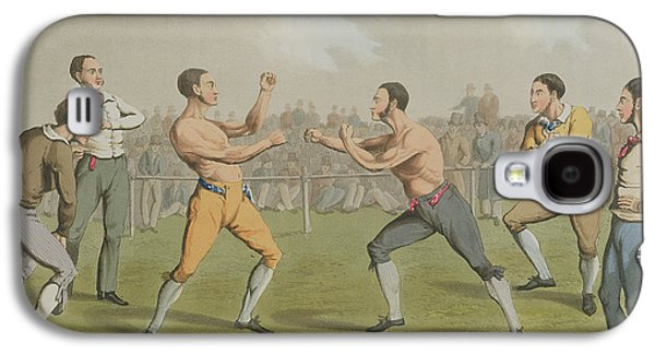 A Prize Fight Aquatinted By I Clark Galaxy S4 Case by Henry Thomas Alken