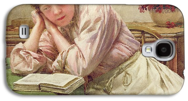 Novel Paintings Galaxy S4 Cases - A Quiet Read Galaxy S4 Case by Walter Langley