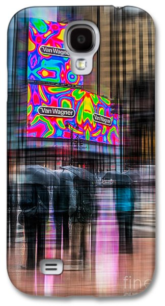 Nyc Rain Galaxy S4 Cases - A Rainy Day In New York Galaxy S4 Case by Hannes Cmarits