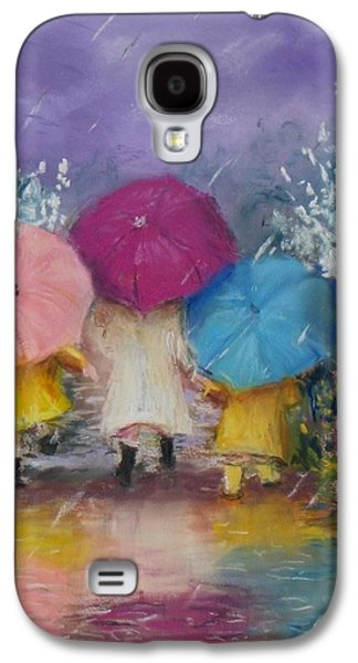 Jack Skinner Galaxy S4 Cases - A Rainy Day Stroll with Mom Galaxy S4 Case by Jack Skinner