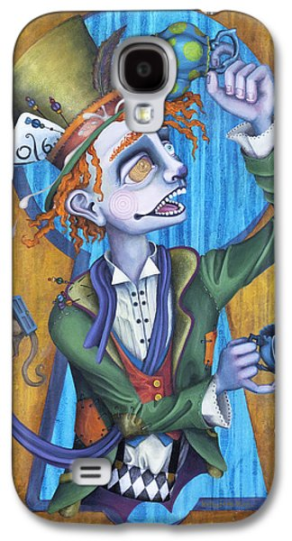 Mad Hatter Paintings Galaxy S4 Cases - A Raven And A Writing Desk Galaxy S4 Case by Kelly Jade King