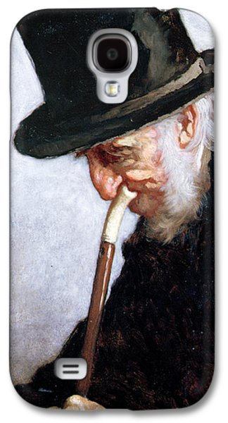Sideburns Galaxy S4 Cases - A Retired Sea Captain from Massachusetts Galaxy S4 Case by Eastman Johnson