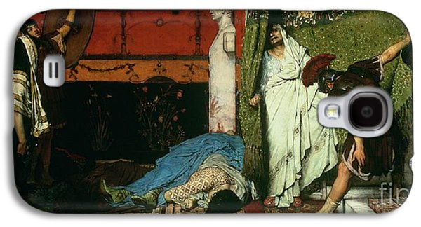 Hidden Galaxy S4 Cases - A Roman Emperor   Claudius Galaxy S4 Case by Sir Lawrence Alma Tadema