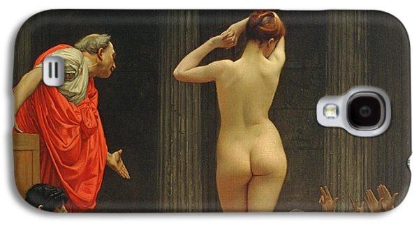 A Roman Slave Market Galaxy S4 Case by Jean Leon Gerome