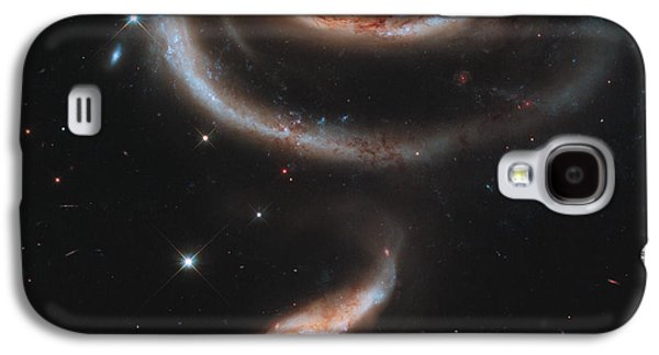 Planet System Paintings Galaxy S4 Cases - A rose made of galaxies Galaxy S4 Case by Celestial Images