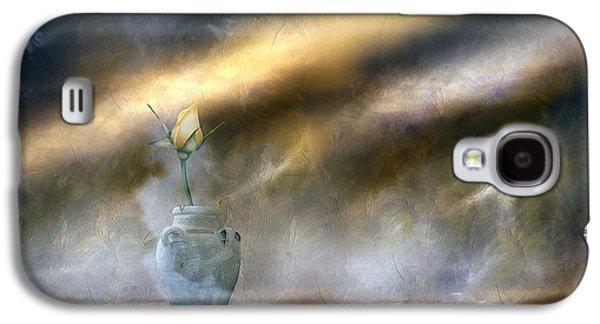 Storm Prints Mixed Media Galaxy S4 Cases - A Rose On The Plain Galaxy S4 Case by Georgiana Romanovna