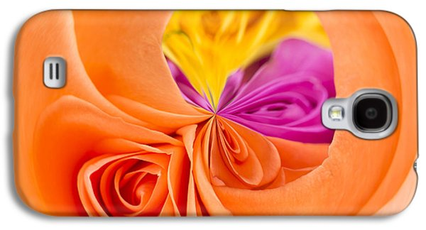 Rosaceae Galaxy S4 Cases - A Round Of Roses Galaxy S4 Case by Anne Gilbert
