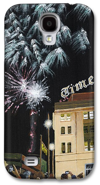 Fireworks Paintings Galaxy S4 Cases - A Scranton Times Christmas Galaxy S4 Case by Austin Burke