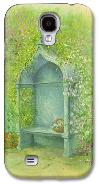 Shed Galaxy S4 Cases - A Seat in the Garden Galaxy S4 Case by Garry Walton
