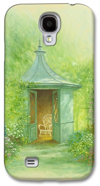 Shed Galaxy S4 Cases - A Seat in the SUmmerhouse Galaxy S4 Case by Garry Walton
