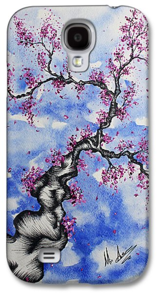 Cherry Blossoms Drawings Galaxy S4 Cases - A Simple Blossom Galaxy S4 Case by Michael  Aucoin