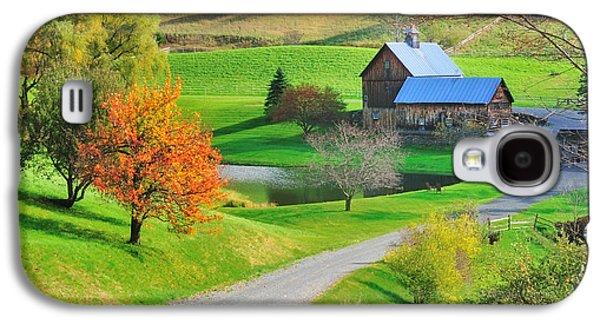 Farmscape Galaxy S4 Cases - Sleepy Hollow Autumn - Pomfret Vermont Galaxy S4 Case by Thomas Schoeller