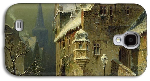 Slush Galaxy S4 Cases - A Small Town in the Rhine Galaxy S4 Case by August Schlieker