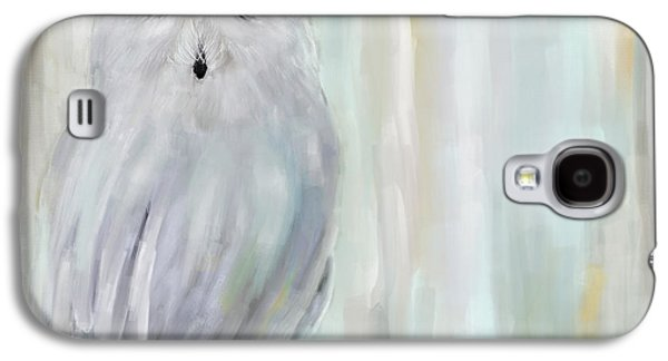 Champagne Paintings Galaxy S4 Cases - A Snowy Stare Galaxy S4 Case by Lourry Legarde