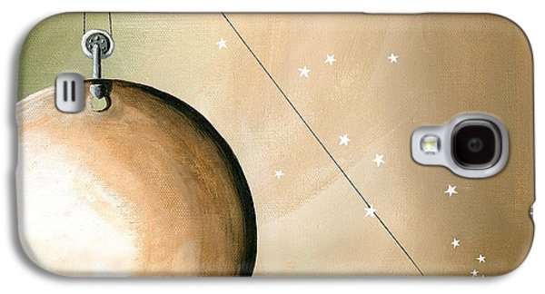 Space Paintings Galaxy S4 Cases - A Solar System Galaxy S4 Case by Cindy Thornton
