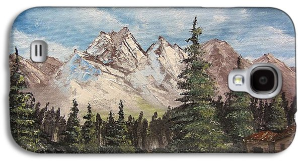Bob Ross Paintings Galaxy S4 Cases - A Solitary Evening Galaxy S4 Case by Gavin Kutil