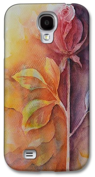 Floral Ceramics Galaxy S4 Cases - A Solitary Rose Galaxy S4 Case by Kathleen Pio