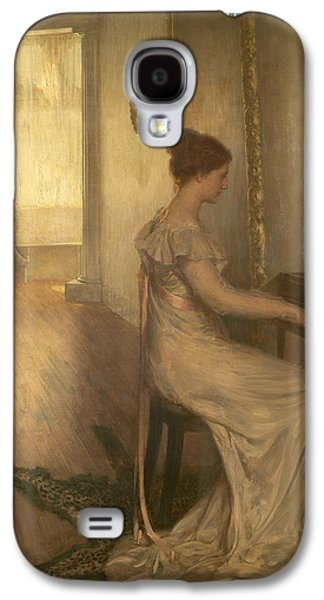Playing Photographs Galaxy S4 Cases - A Sonata Of Beethoven Oil On Canvas Galaxy S4 Case by Alfred Edward Emslie