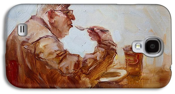 Tim Paintings Galaxy S4 Cases - A Soupe Break at Tim Hortons Galaxy S4 Case by Ylli Haruni