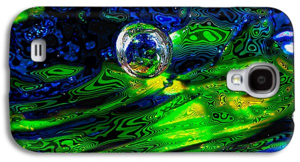 Glass Reflections Galaxy S4 Cases - A Splash of Seahawks Galaxy S4 Case by David Patterson