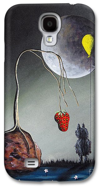 Creepy Paintings Galaxy S4 Cases - A Strange Dream by Shawna Erback Galaxy S4 Case by Shawna Erback