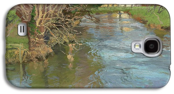 Reflections In River Galaxy S4 Cases - A Stream in Spring Galaxy S4 Case by Fritz Thaulow