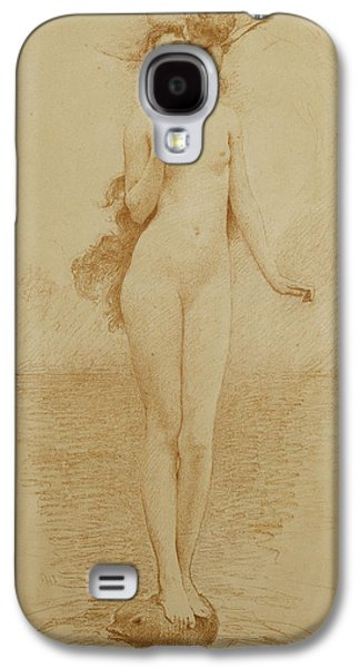 Youthful Drawings Galaxy S4 Cases - A Study for The Birth of Love Galaxy S4 Case by Solomon Joseph Solomon