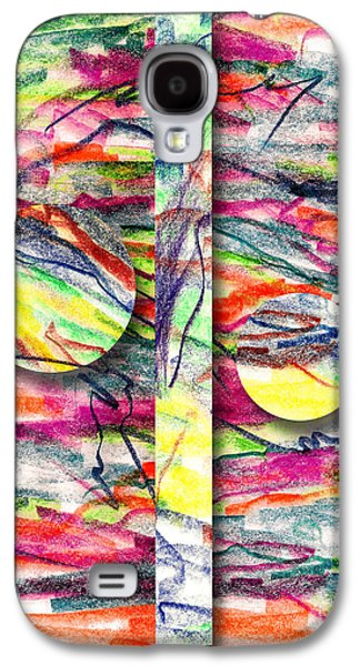 Colored Pencil Abstract Drawings Galaxy S4 Cases - A Summers Day Breeze Galaxy S4 Case by Peter Piatt