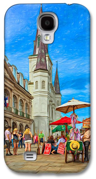 Lucky Dogs Galaxy S4 Cases - A Sunny Afternoon in Jackson Square 2 Galaxy S4 Case by Steve Harrington
