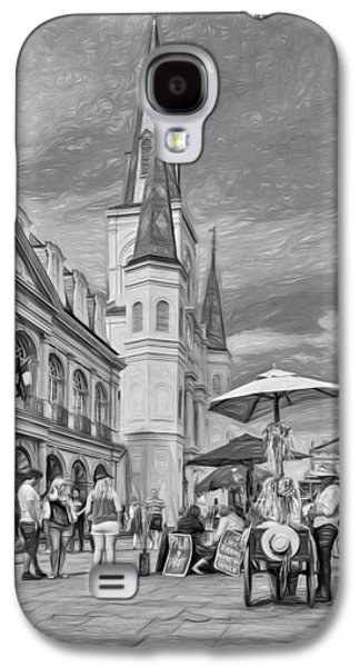Lucky Dogs Galaxy S4 Cases - A Sunny Afternoon in Jackson Square 3 Galaxy S4 Case by Steve Harrington