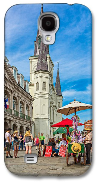 Lucky Dogs Galaxy S4 Cases - A Sunny Afternoon in Jackson Square Galaxy S4 Case by Steve Harrington