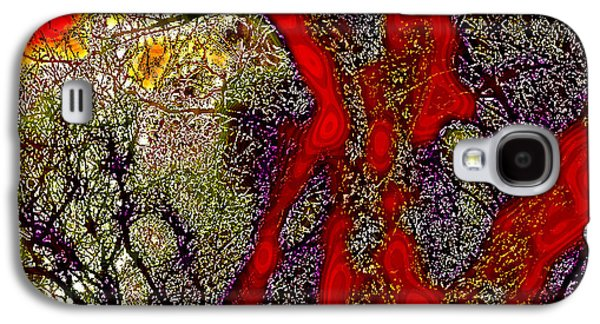 Surreal Landscape Galaxy S4 Cases - A Touch of Autumn Abstract II Galaxy S4 Case by David Patterson
