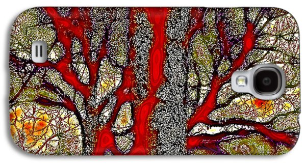 Surreal Landscape Galaxy S4 Cases - A Touch of Autumn Abstract IV Galaxy S4 Case by David Patterson