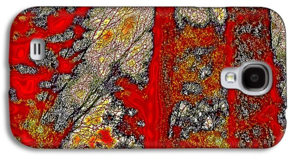 Surreal Landscape Galaxy S4 Cases - A Touch of Autumn Abstract VI Galaxy S4 Case by David Patterson