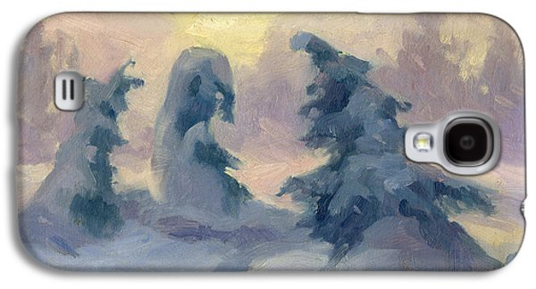 Winter Scene Paintings Galaxy S4 Cases - A Tranquil Moment Galaxy S4 Case by Diane McClary