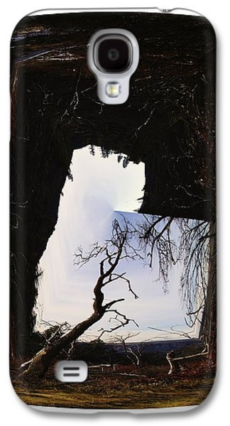 Tree Roots Galaxy S4 Cases - A Tree In A Square Abstract Galaxy S4 Case by Jeff  Swan