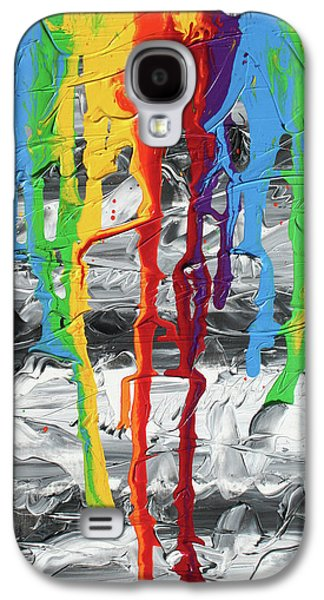 Unity Paintings Galaxy S4 Cases - A Triumph of Color Galaxy S4 Case by Ric Bascobert