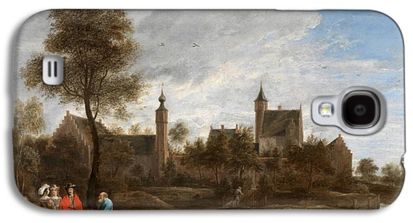 Het Paintings Galaxy S4 Cases - A View of Het Sterckshof near Antwerp Galaxy S4 Case by David Teniers the Younger