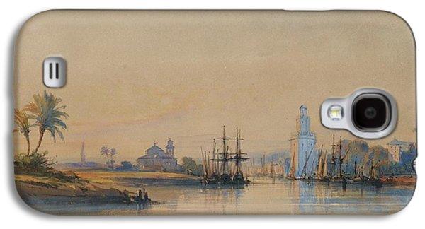Delacroix Galaxy S4 Cases - A View Of Seville Galaxy S4 Case by Auguste Delacroix