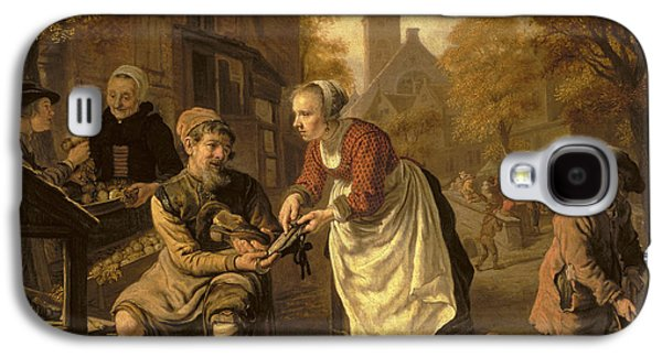 Barrel Galaxy S4 Cases - A Village Scene With A Cobbler, C.1650 Oil On Canvas Galaxy S4 Case by Victors