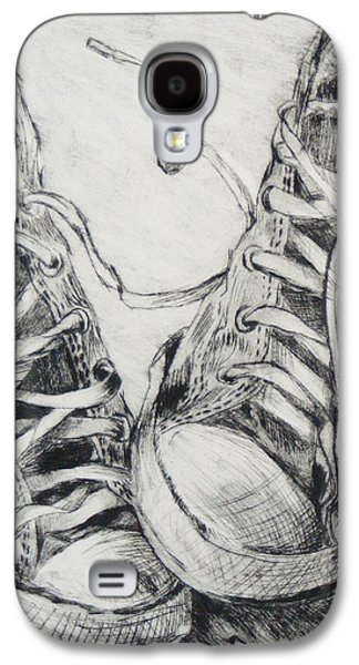 Printmaking Drawings Galaxy S4 Cases - A Walk in My Shoes Galaxy S4 Case by Abby Parker