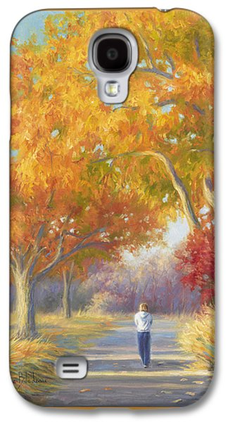 Fall Grass Galaxy S4 Cases - A Walk In The Fall Galaxy S4 Case by Lucie Bilodeau