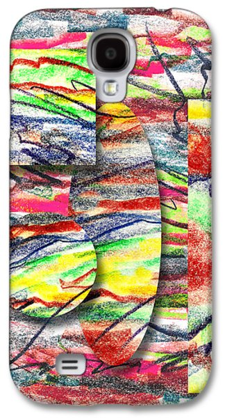 Colored Pencil Abstract Drawings Galaxy S4 Cases - A Walk in the Park  Galaxy S4 Case by Peter Piatt