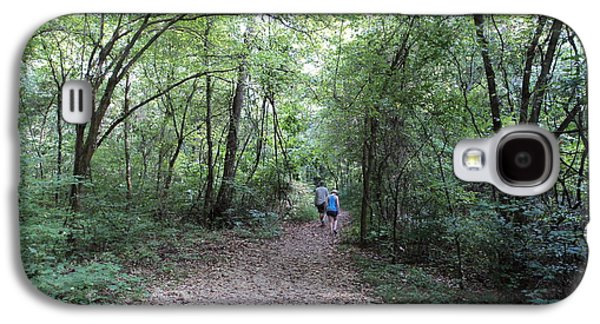 Forest Glass Art Galaxy S4 Cases - A walk in the woods Galaxy S4 Case by Dennis Garrison