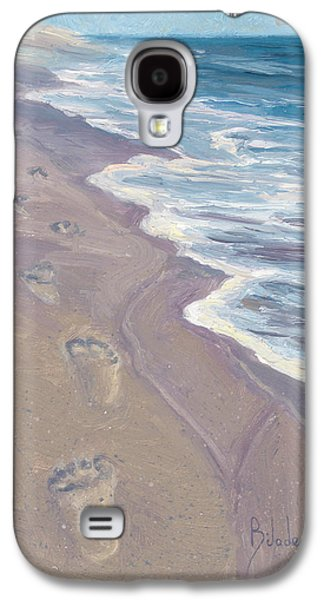 Cape Cod Galaxy S4 Cases - A Walk On The Beach Galaxy S4 Case by Lucie Bilodeau
