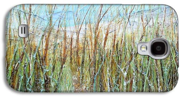 Beach Landscape Reliefs Galaxy S4 Cases - A walk to the Dunes Galaxy S4 Case by Regina Valluzzi